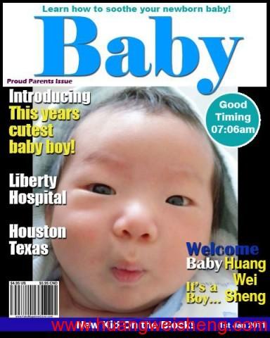 Baby Magazine Face Cover / 宝宝杂志封面人物